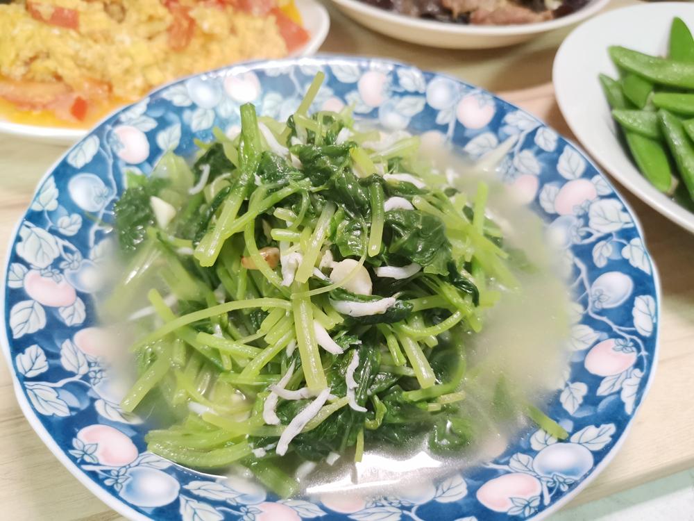 莧菜小魚/莧菜吻仔魚/莧菜料理 @我眼睛所看見的世界(Fly's Blog)