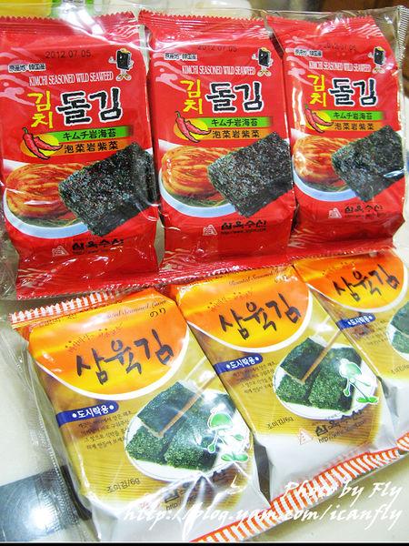 三育岩海苔,泡菜口味好香唷(試吃) @我眼睛所看見的世界(Fly's Blog)