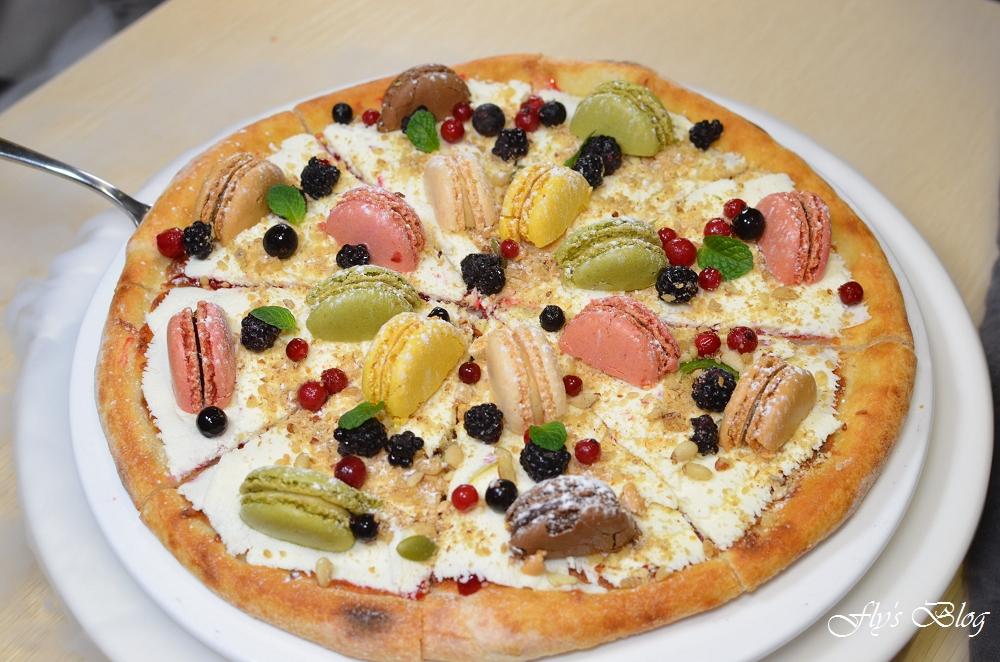 義大利米蘭手工窯烤披薩,馬卡龍披薩太奢侈了啦,好看又好吃! @我眼睛所看見的世界(Fly's Blog)